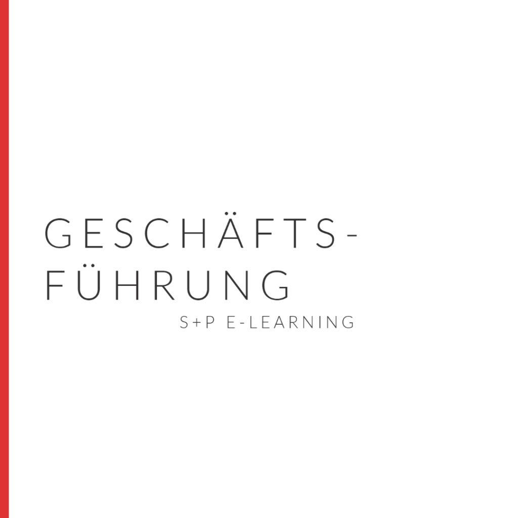 E-Learning Geschäftsführung